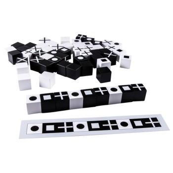 Klocki czarno - białe Canoe - 60 elem.
