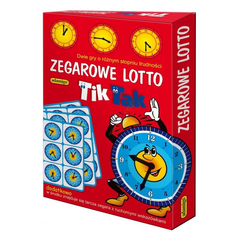 Zegarowe lotto Tik Tak- dwie gry Adamigo