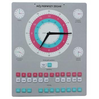 Magnetyczny zegar edukacyjny