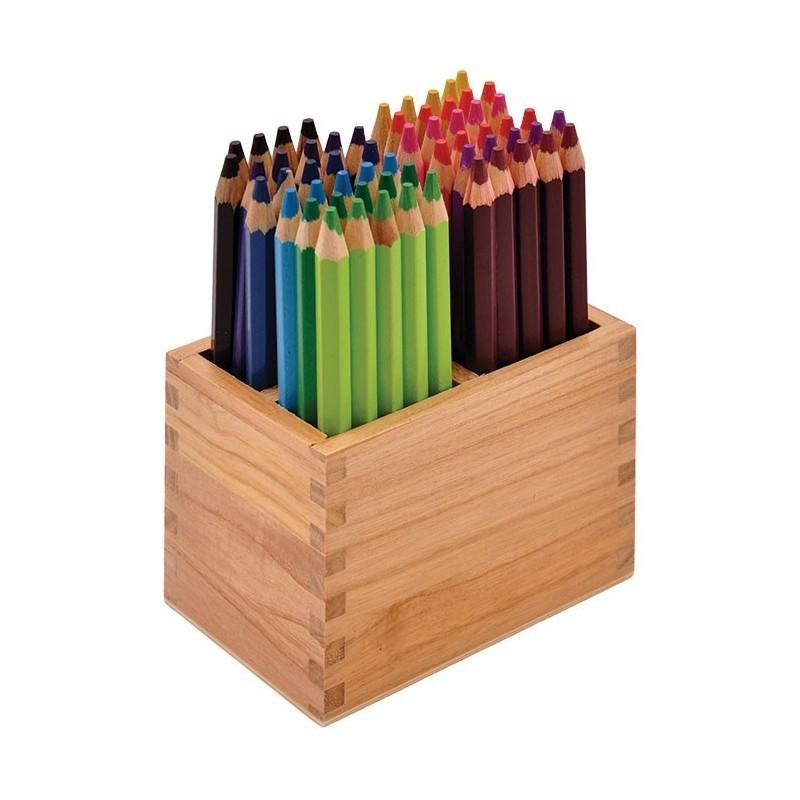 Grube kredki w stojaku 60 sztuk 12 kolorów