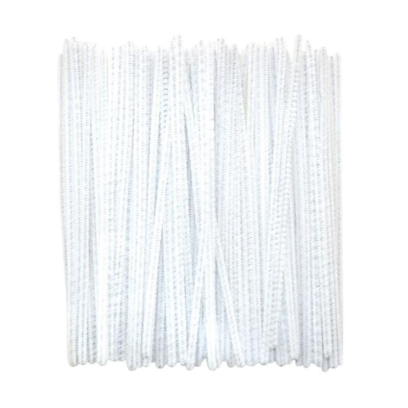 Druciki kreatywne - białe - 100 szt.
