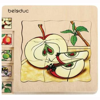 Puzzle Jabłko Beleduc