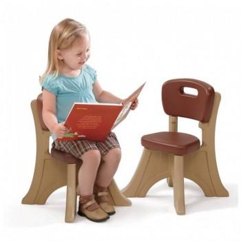 Krzesło z oparciem brązowe