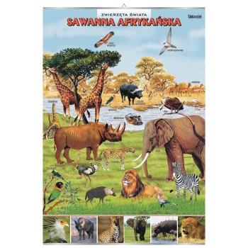 Plansze - występowanie zwierząt - Sawanna Afrykańska
