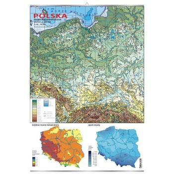 Plansza - Polska - mapa hipsometryczna