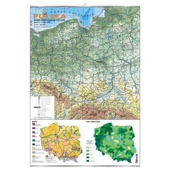 Plansza - Polska - mapa ogólnogeograficzna