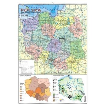 Plansza - Mapa administracyjno-drogowa