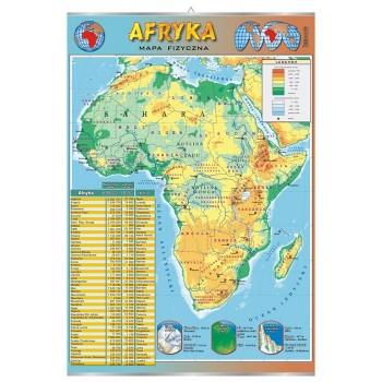 Plansza - Afryka - mapa fizyczna