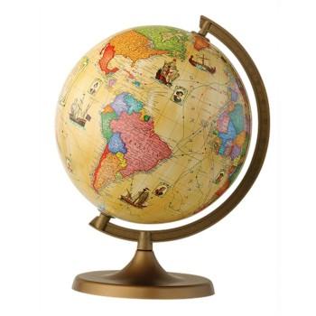 Globus z trasami odkrywców
