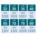 Liczby rzymskie i arabskie - od 21 do 100