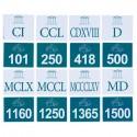 Liczby rzymskie i arabskie - od 100 do 2100
