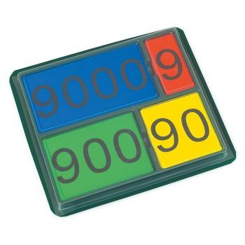 Magnetyczne tabliczki z liczbami