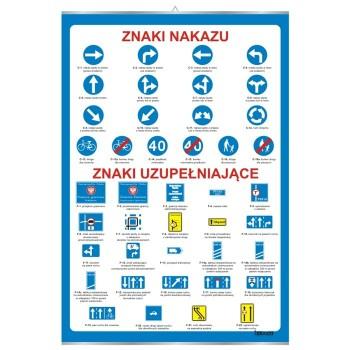 Plansze - Bezpieczeństwo ruchu drogowego - Znaki nakazu i uzupełniające