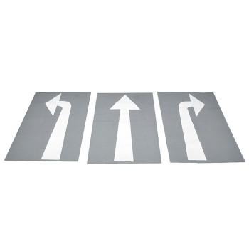 Znaki drogowe poziome - strzałki kierunkowe - 3 szt.