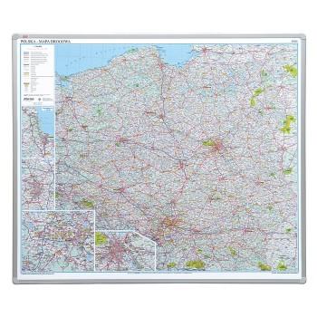 Tablica - Drogowa mapa Polski - Magnetyczna