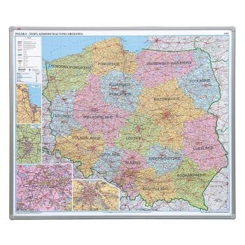 Tablica - Administracyjno drogowa mapa Polski - Magnetyczna