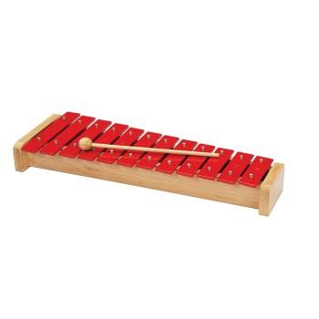 12 dzwonków diatonicznych na drewnianej podstawie