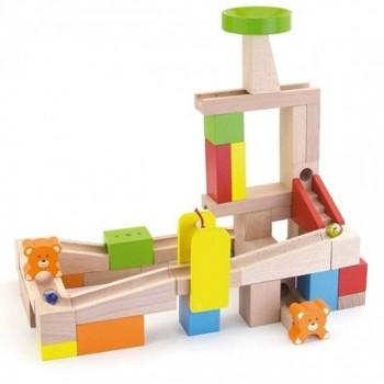 Drewniany kulodrom - 49 elementów