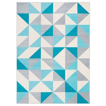 Trójkąty błękitne - dywan
