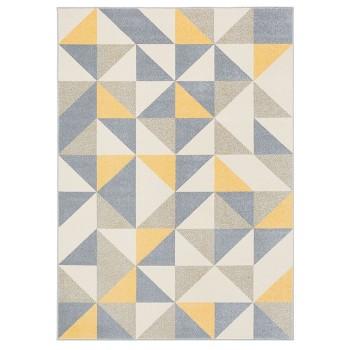 Trójkąty żółte - dywan