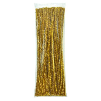 Druciki kreatywne Glitter - złote - 25 szt.