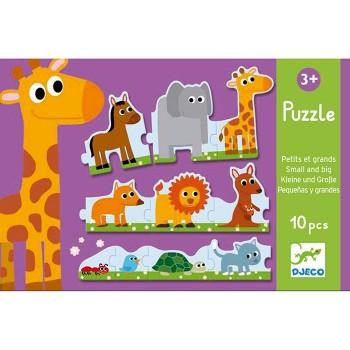 Puzzle tekturowe - Zwierzęta duże i małe