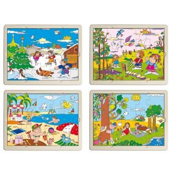 Puzzle 4 pory roku - zestaw