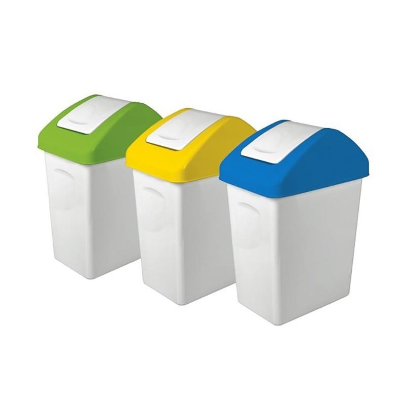 Pojemniki do segregacji śmieci - 3 szt.