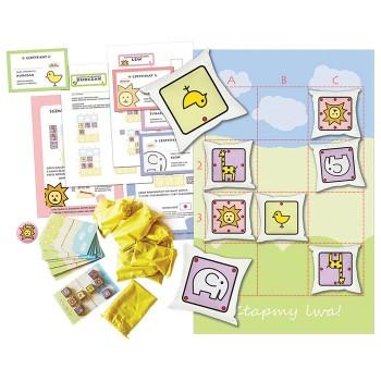 Złapmy lwa 3x4! Zestaw (gra dywanowa i gry planszowe)