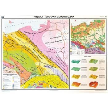 Mapa tematyczna Polski - Budowa geologiczna