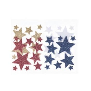 Piankowe naklejki - gwiazdki