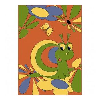 Dywan ślimak z motylkiem