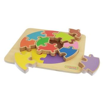 Ogromne Puzzle Okrągła Układanka Kolorowa