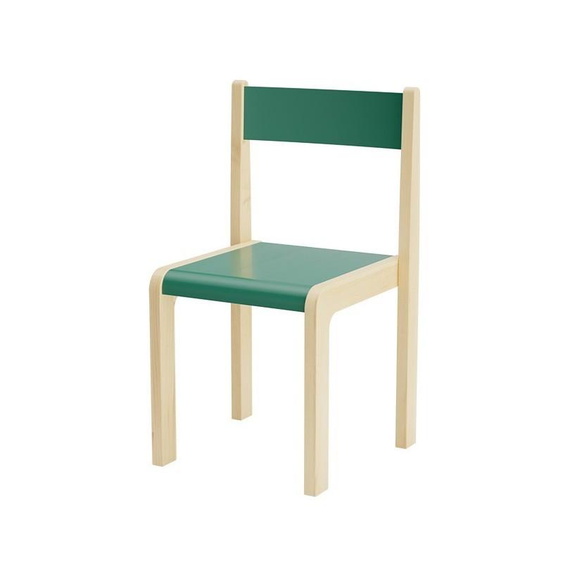 Krzesła kolorowe drewniane - 35 cm