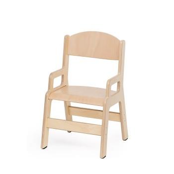 Krzesełko ze sklejki z podłokietnikiem - 21 cm