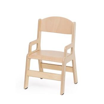 Krzesełko ze sklejki z podłokietnikiem - 26 cm