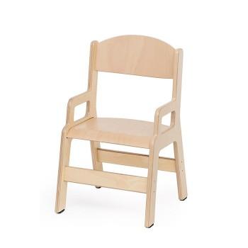 Krzesełko ze sklejki z podłokietnikiem - 31 cm