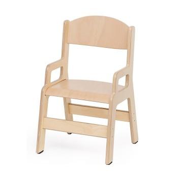 Krzesełko ze sklejki z podłokietnikiem - 35 cm