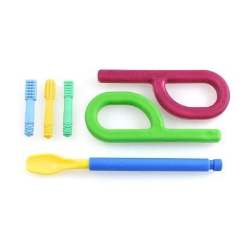 Starter Kit: Wibrator logopedyczny Z-Vibe + 4 nasadki + 2 gryzaki