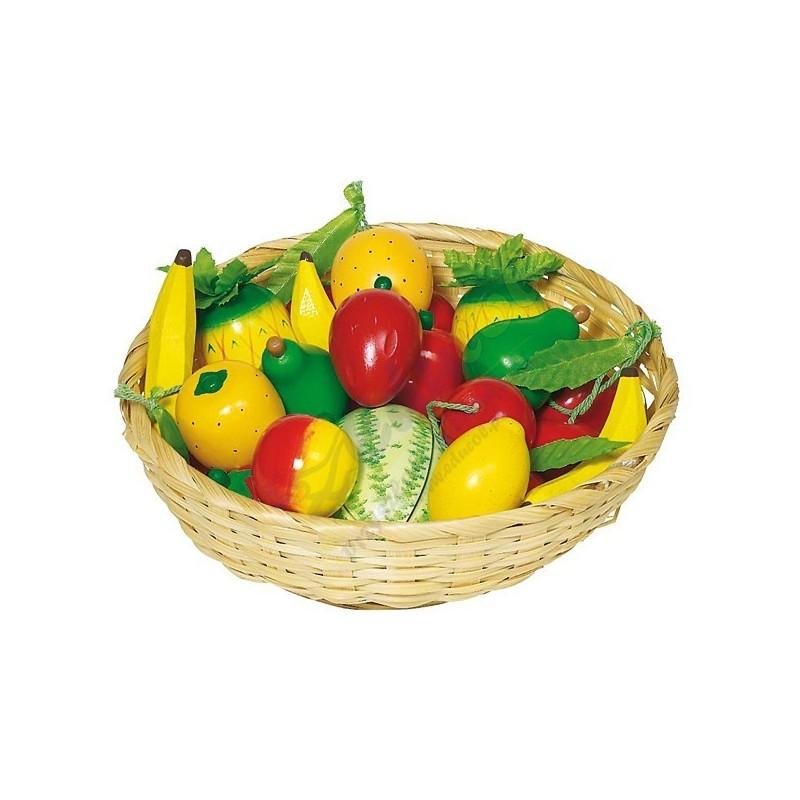 Zestaw owoców w koszyku