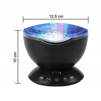 Fale oceanu - projektor z głośnikiem