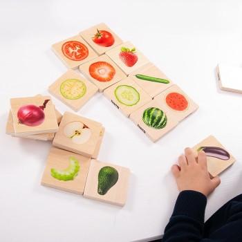 Warzywa i owoce - połącz w pary