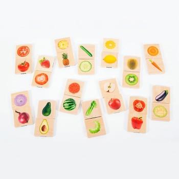Warzywa i owoce - połącz w...