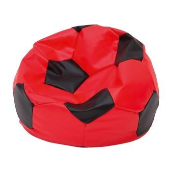 Pufa piłka nożna duża czerwono-czarna