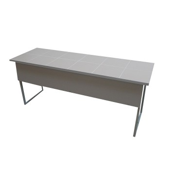 Stół do pracowni chemicznej z blatem ceramicznym - 2 osobowy