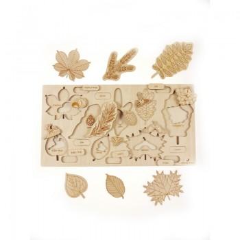 Puzzle drewniane - co...