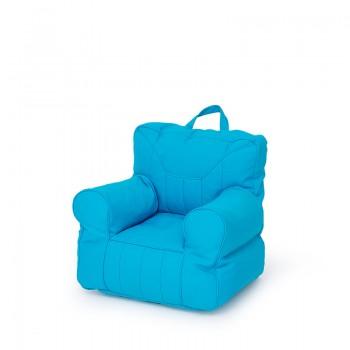 Niebieski fotelik z granulatem