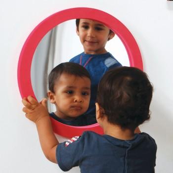 Okrągłe lustro z piankową ramą