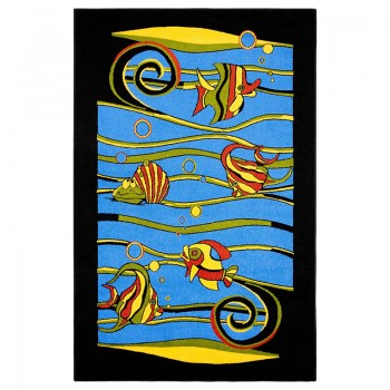 Dywan Rybki- niebieski