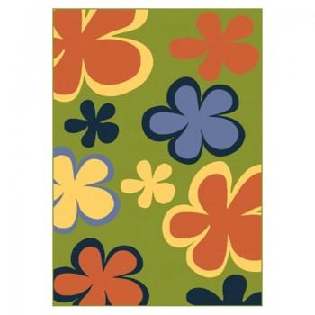 Dywan Kwiaty-zielony